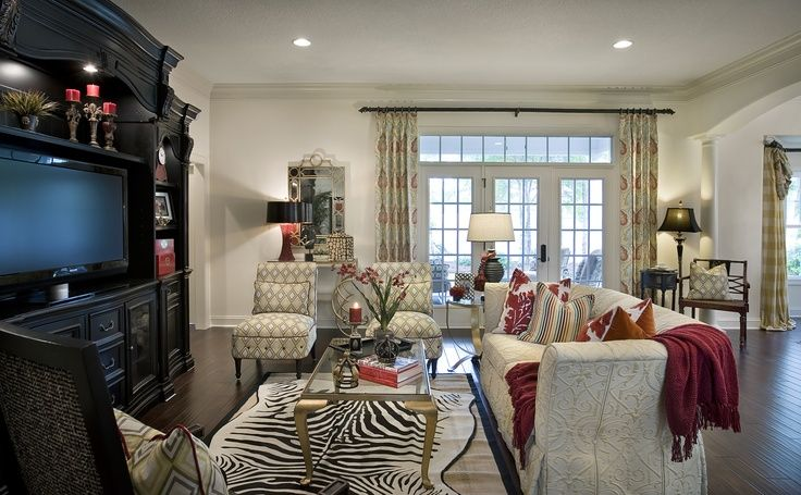 Decorated Model Home Animal Print Home Decor Pinterest