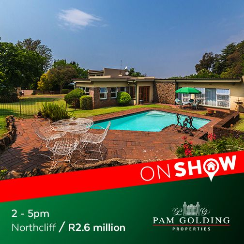 On Show Sunday 2 October from 2 - 5pm. Click for more information. #OnShow #ForSale #Northcliff