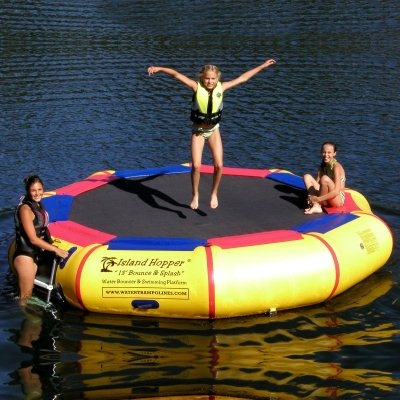 Water Trampoline with a ladder
