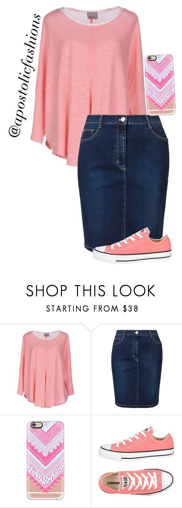 """""""Apostolic Fashions #1080"""" by apostolicfashions ❤ liked on Polyvore featuring Vero Moda, Betty Barclay, Casetify and Converse"""