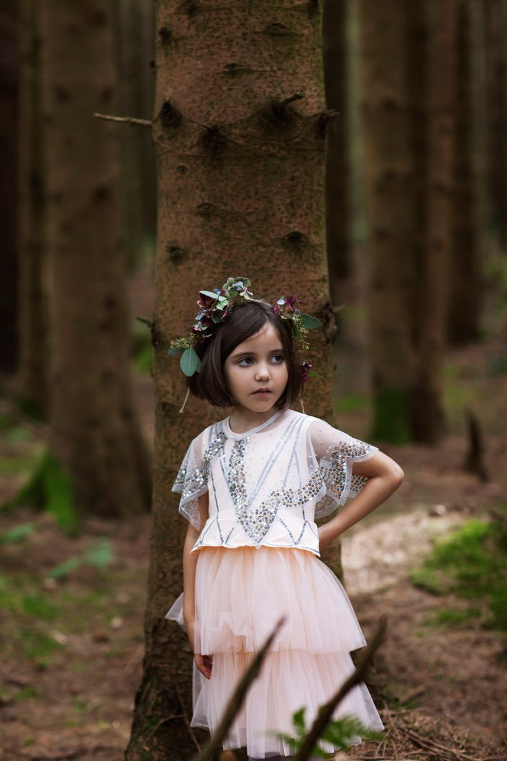 Adorable sleeveless dress with scalloped, glitter-embellished bodice and tiered tulle skirt by Leigh Tucker Willow, exclusively at Dunnes Stores