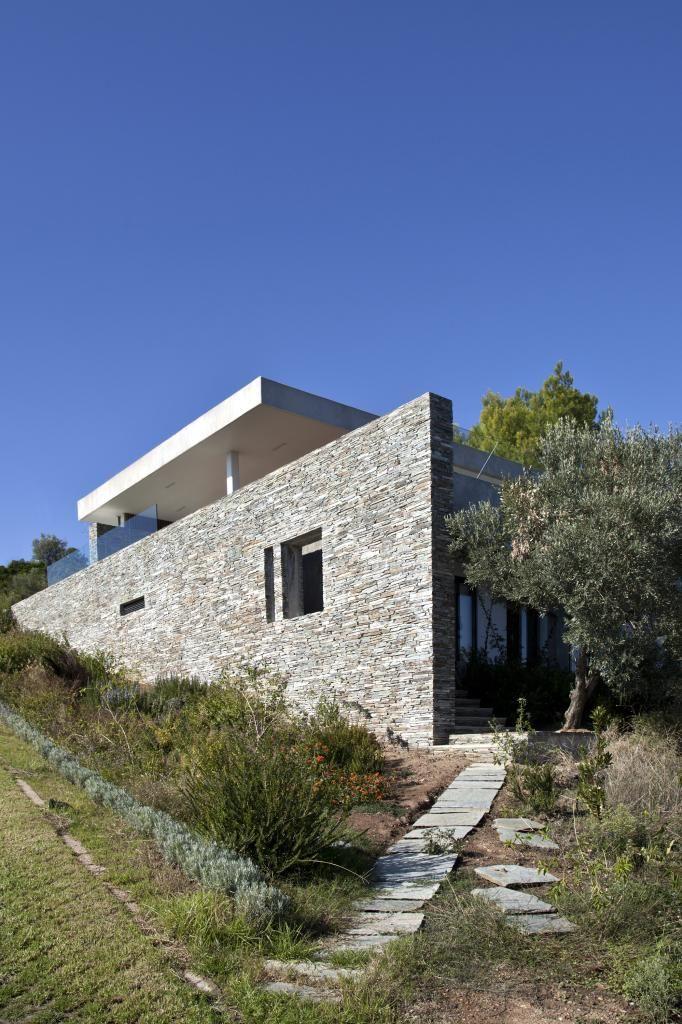 Minimalistická letná rezidencia z grécka