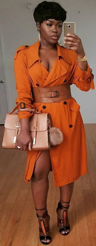 Trench Dress by / Fashion Look by  peakmilll