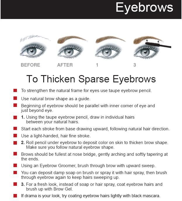 For Sparse Brows