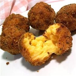Cheesecake factorys fried mac and cheese balls!