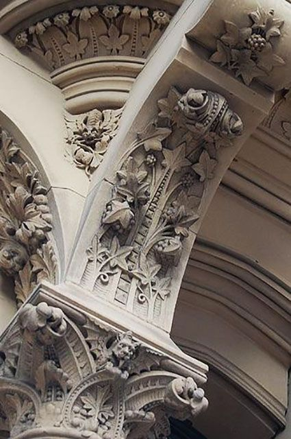 Details, details...University of Manchester, England, photo by avventurina via Flickr.