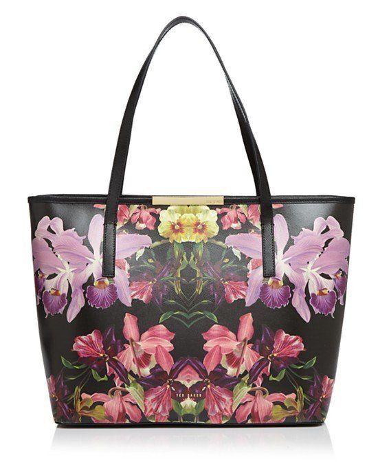 Ted Baker Denny Lost Gardens Leather Tote Black Floral Multi/Gold $175 FREE SHIPPING OR PICK UP, 🌴 (ELSEWHERE $270+) 🌴 BUY AT OUR WILDWOOD LOCATION OR WE SHIP FREE WORLDWIDE! VISIT OUR WEBSITE: ShopAtWaves.Com