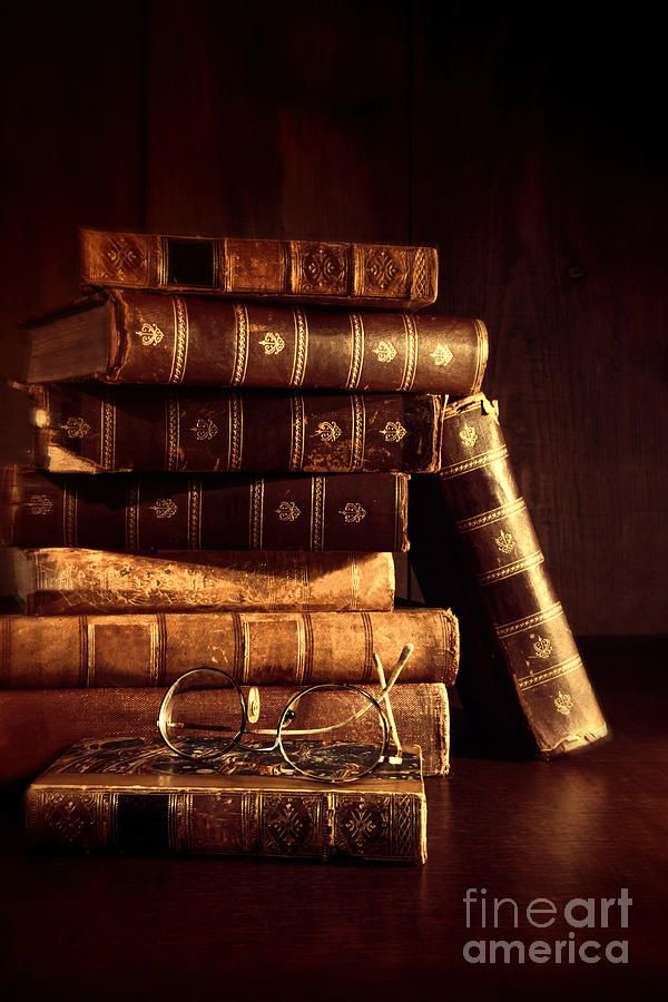 antique books | Of Old Books With Reading Glasses Photograph - Stack Of Old Books ...