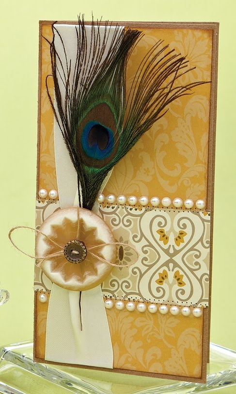 Peacock Feather Card by @Lemon Windy Robinson