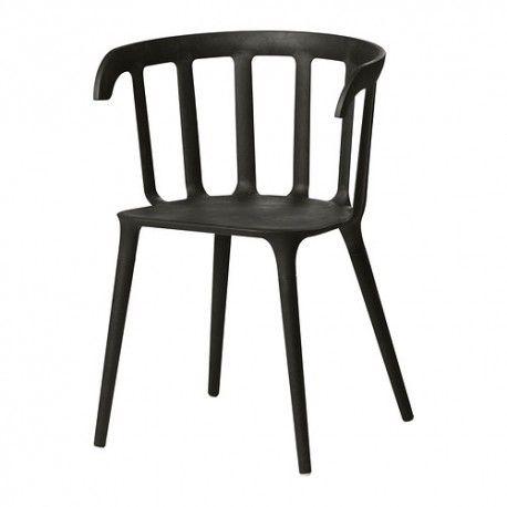 IKEA PS 2012 Krzesło z podłokietnikami, czarny, 702.068.04, krzesła do jadalni, krzesła ikea, meble z ikei, krzesła z ikei, krzesła ikea sklep online, dostawa z ikei