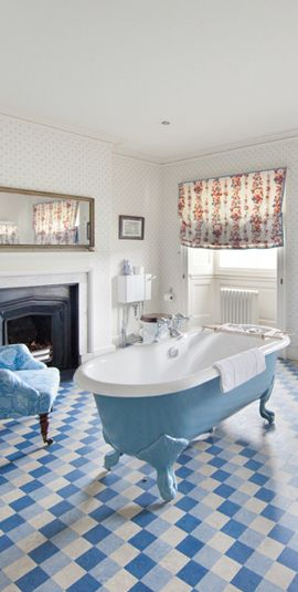 Beautiful bathroom at Knowsley Hall