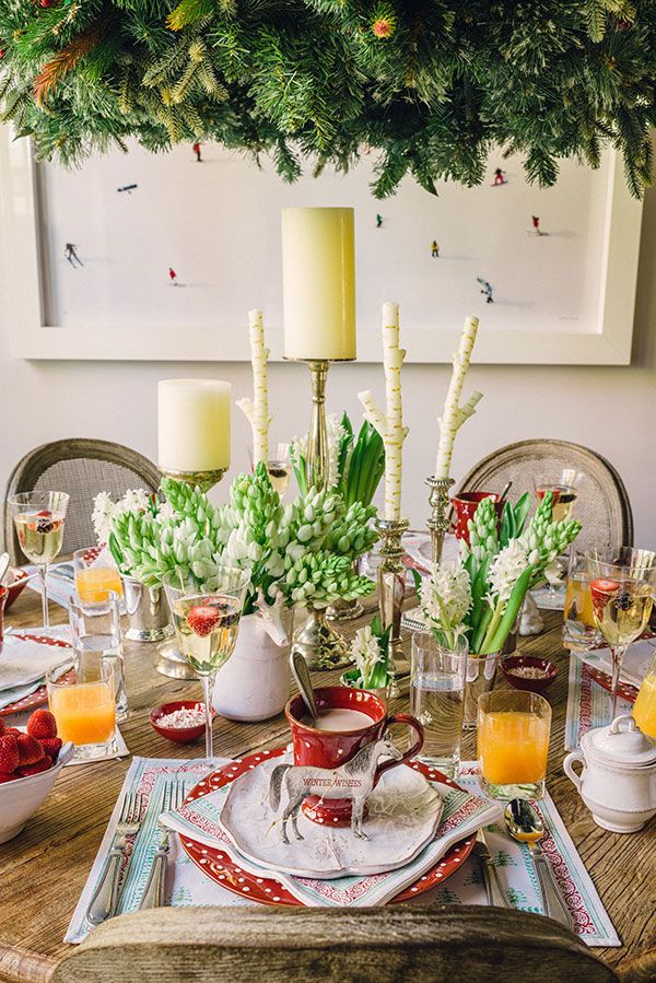Check out this stunning and cute holiday brunch for a little inspiration. Your holiday table will look so merry and beautiful, the guests will never want to leave!
