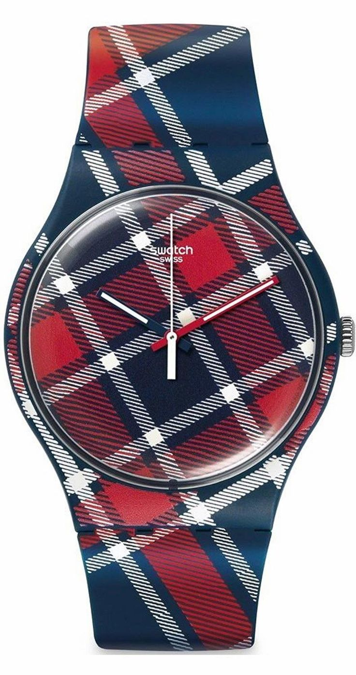 Make a statement in your home with color-kilt: SWATCH Originals Analog Display Swiss Quartz Two Tone Watch. Rendered in traditional blue and red, it sports a smart and sophisticated look, while clean white hands make time-telling a breeze.  #SWATCH	 #KhaValeri   http://www.pinterest.com/KhaValeri/    kha_amz_SWAorig0107_v7