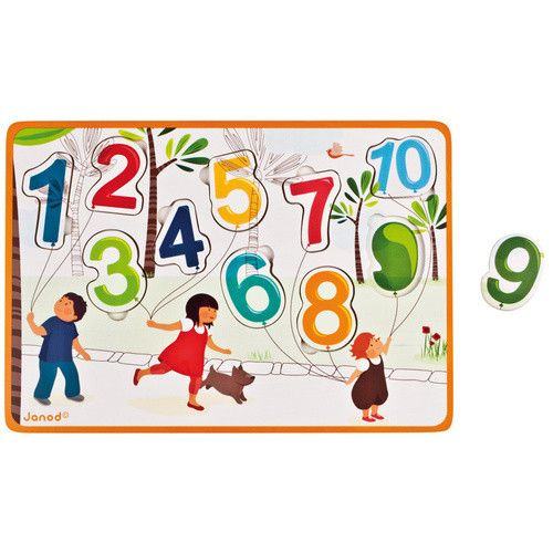Want a easy way for your children to learn numbers? Well Janod has just the thing. Janod 123 Balloons Puzzle, is a great start for your little ones for counting. They will sure have fun!