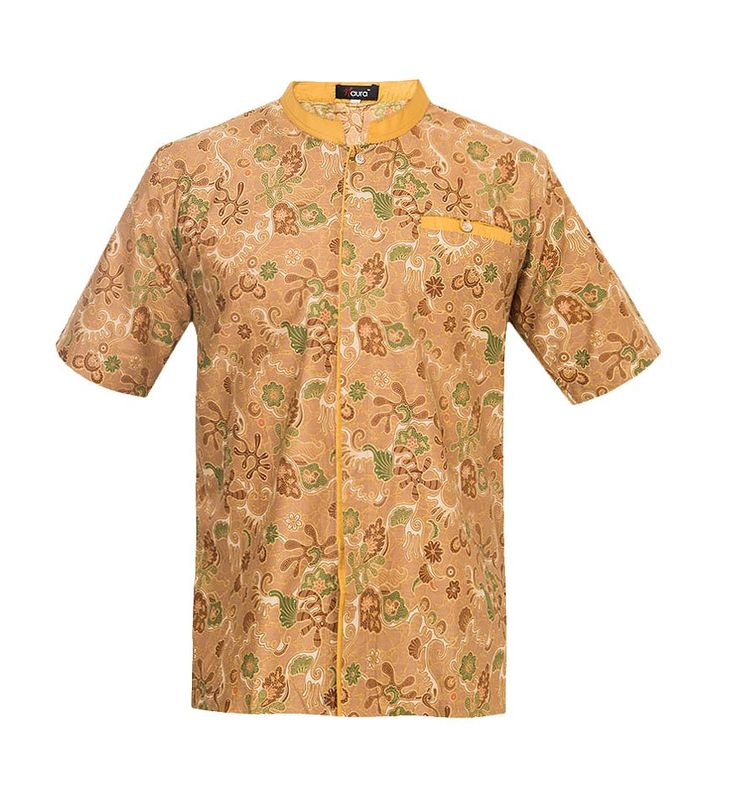 Haisan Koko by Naura. Koko shirt with batik pattern, front pocket, this yellow batik pattern shirt made from cotton, short sleeves, front pocket, trendy shirt for formal occasion, pair this with pants and shoes for a formal occassion, suitable for casual wear. http://www.zocko.com/z/JHWQC