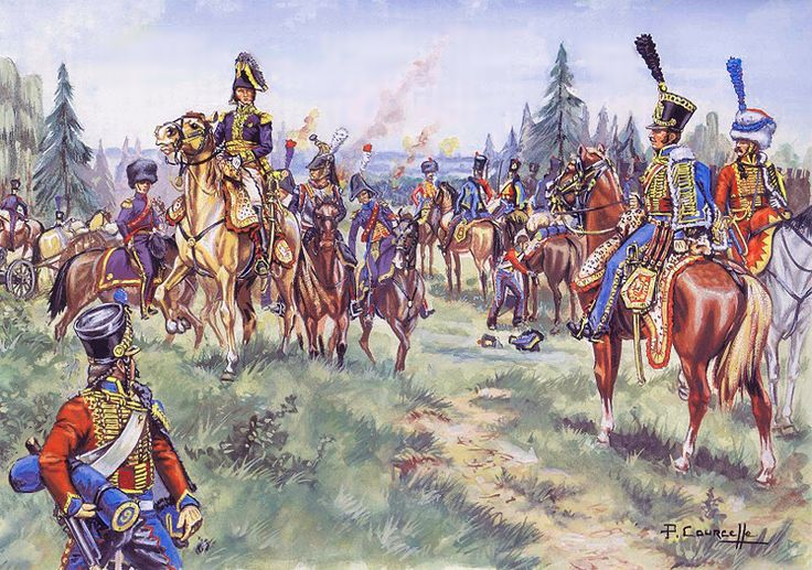 General Montbrun with the Light Cavalry Division, in particular the 9th Hussars