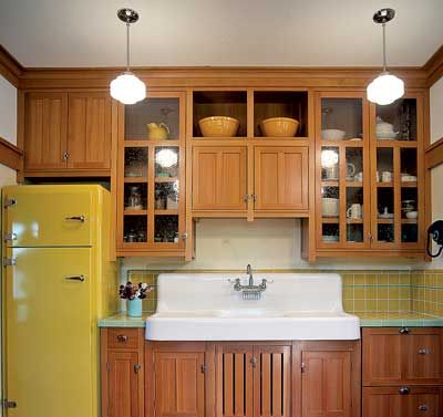 Bungalow kitchen with custom cabinets