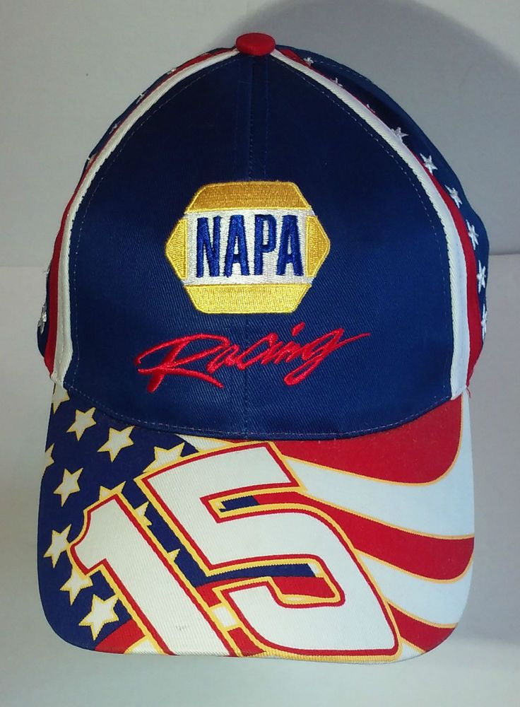 NAPA Racing Michael Waltrip #15 NASCAR Hat Adjustable Cap Velcro 100% Cotton…