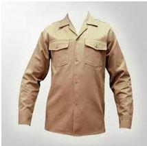 Camisa tipo operario en Dril nacional 100% algodón.  Colores surtidos.