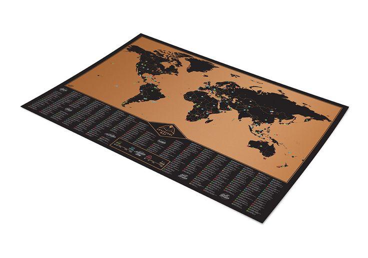 BOJIN Changeable Color World Map - Black