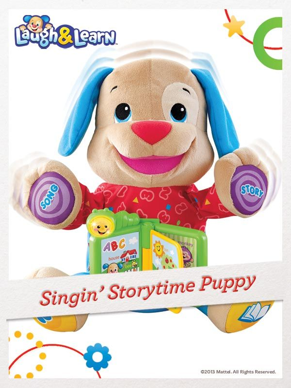 Over 40+ sing-along songs, stories & phrases keep your baby entertained with the Laugh & Learn Singin' Storytime Puppy. For a chance to win, click here: http://fpfami.ly/01497  #FisherPrice #Toys #ChildDevelopment