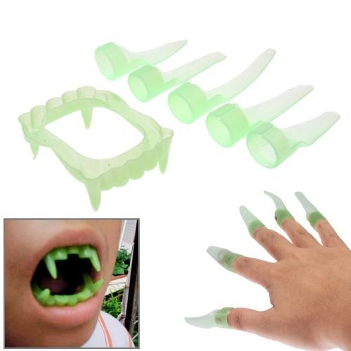 amazones gadgets E Halloween Costume Party Supplies Luminous Vampire Teeth / Dentures + Luminous: Bid: 6,06€ Buynow Price 6,06€ Remaining…