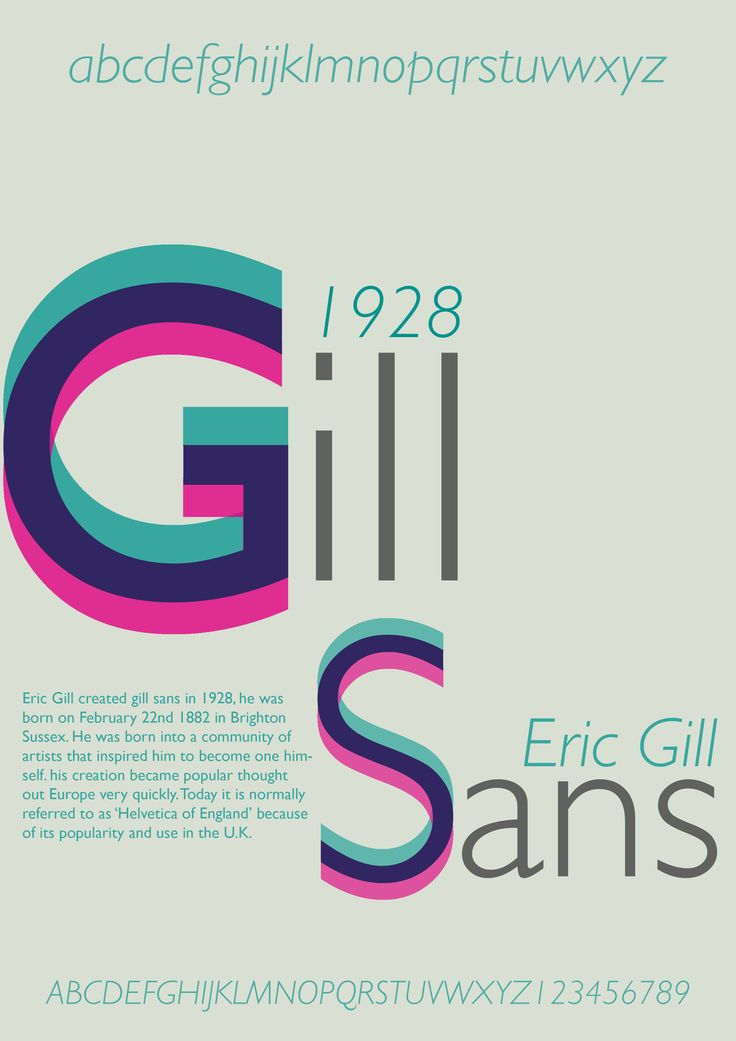 Typography Poster Gill Sans 2nd Design