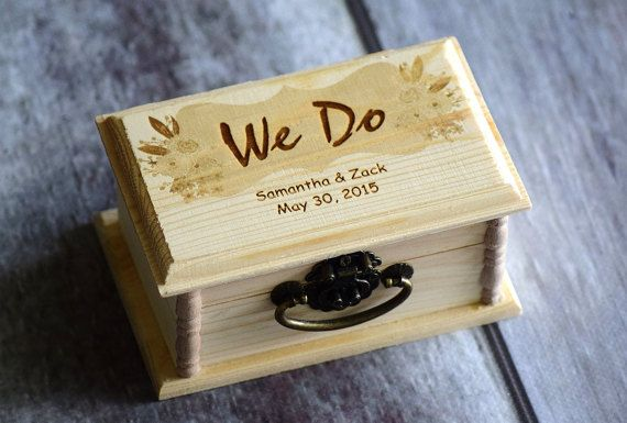 Rustic ring box ring bearer box  pillow by CustomWoodWonders