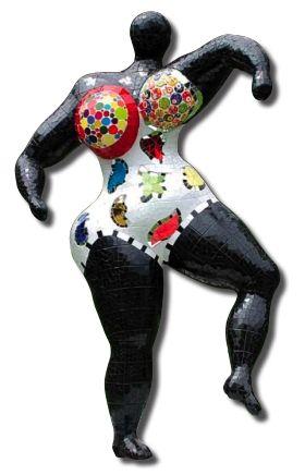 Nana mosaïque noire - Niki de Saint Phalle