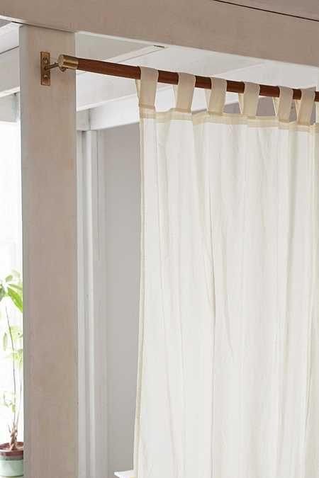 Mid-Century Modern Wooden Curtain Rod