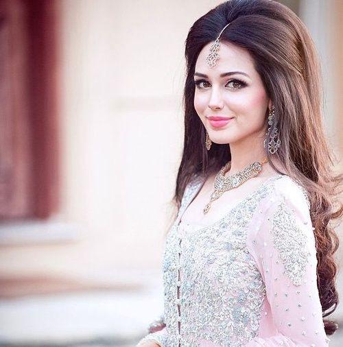 Indian wedding long hairstyle