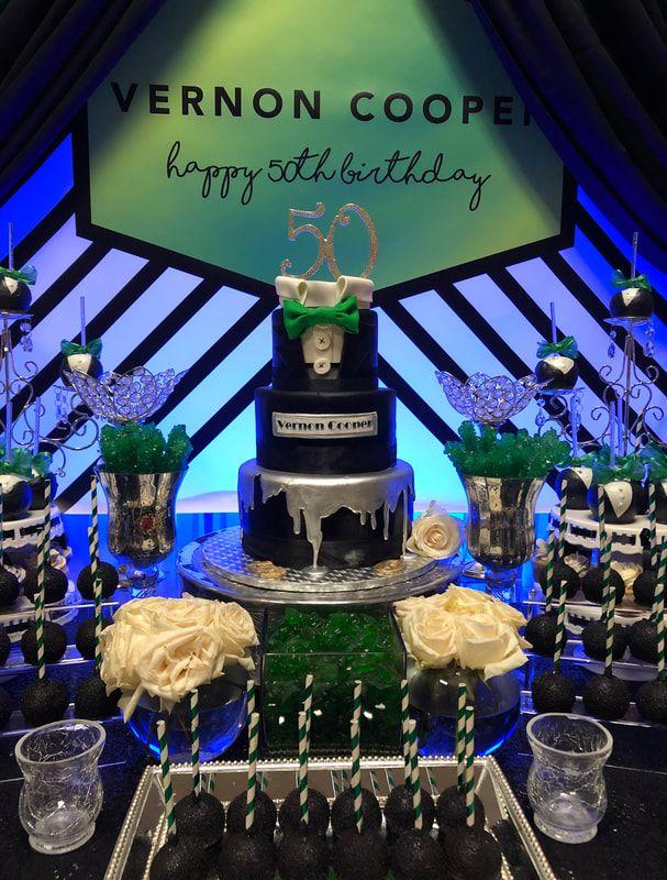 Classic Man 50th Birthday Black Tie Masculine Candy Table Tuxedo Birthday Clas Mens Birthday Party Dessert Table Birthday 50th Birthday Party Ideas For Men