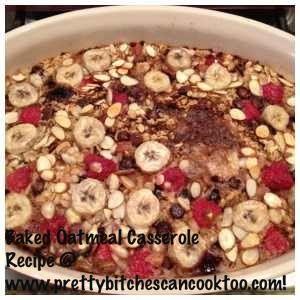 Gluten Free Baked Oatmeal Breakfast Casserole Recipe