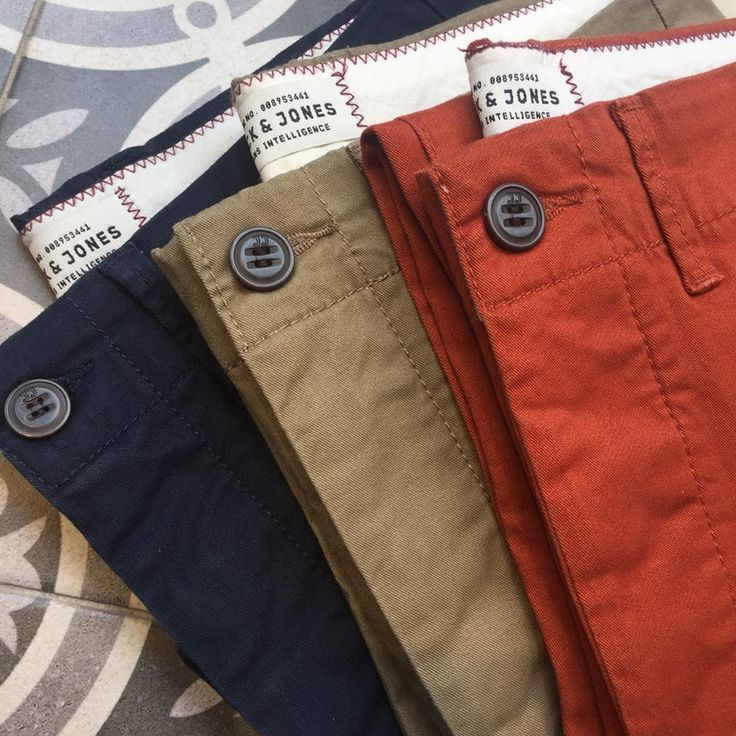 Colourful slim fit chinos!