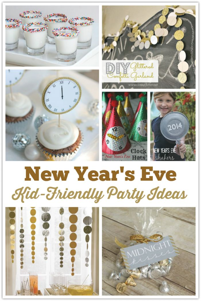 Kid-Friendly New Year's Eve Party Ideas: Celebrate New Year's Eve with the kids using these easy and festive ideas for drinks, cupcakes, crafts, decor and MORE!
