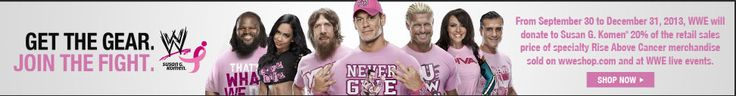 Support WWE Breast Cancer Awareness http://wwe-wrestling-halloween-costume.blogspot.com/ Year round gifts-large selection