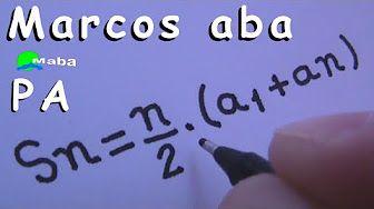 PA - Progressão aritmética - aula 04 - YouTube