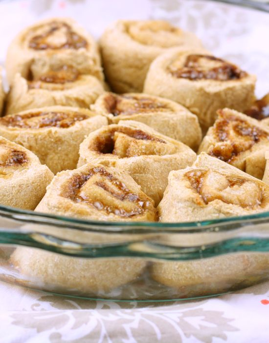 70 calorie, 30 minute healthy vegan Cinnamon Rolls !! wow! #veganmusttry