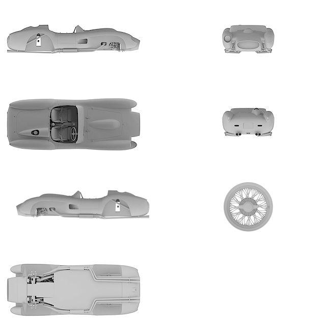 4k Ultra HD high resolution blueprint of Ferrari | 250 Testa Rossa