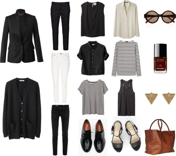 Style - Minimal + Classic: basic wardrobe. Would be a great chic travel wardrobe - maybe add a pair of converse and LBD