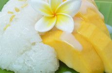 Sticky rice with Mango and Coconut Cream