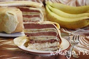 Torta Crepes alle banane di L.Montersino