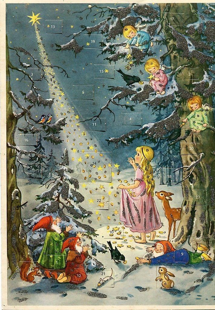 Vtg German Victorian Advent Calendar: Kruger