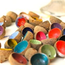You can find acorns anywhere, but what you do with them is up to you! #craftgawker