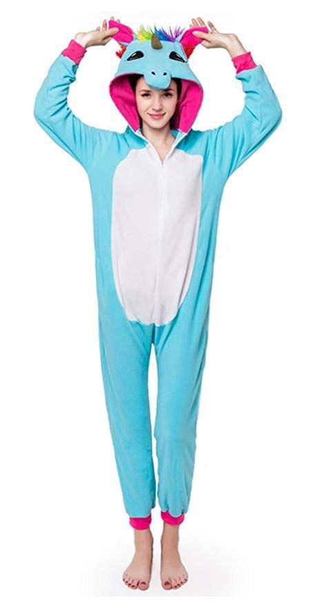 a7a514359eb4 Amazon.com  AceChic Animal Onesie Unicorn Unisex Adult Pajamas One-Piece  Cosplay Costume  Clothing