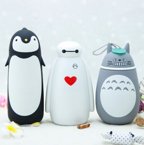 280ML Cute Animal Style Stainless Steel Vacuum Bottle insulation Water Cup #Kawaii