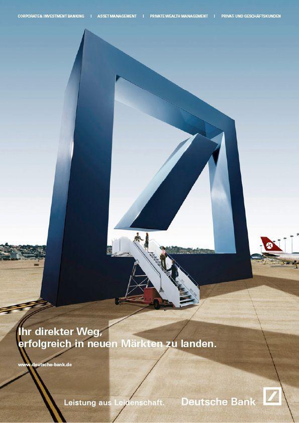 Deutsche Bank Modern Design In 2020 Banks Advertising Banks Ads Advertising