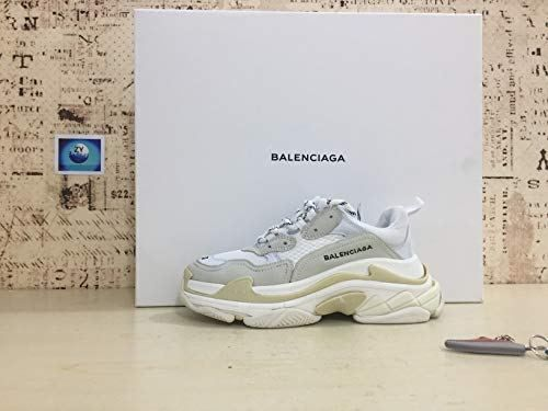 c90de443452 Balenciaga Men s   Women s Vintage Triple S Trainers Fashion Sneakers Beige  (Size 39) Clout WearAmerican style larger than usual  trainersMultimaterials  ...