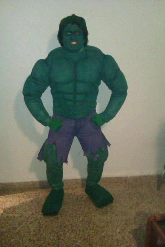 'El increíble Hulk', de Jordi Aparisi.  Finalista del premio al mejor disfraz individual.  Sábado, 9 de febrero de 2013.