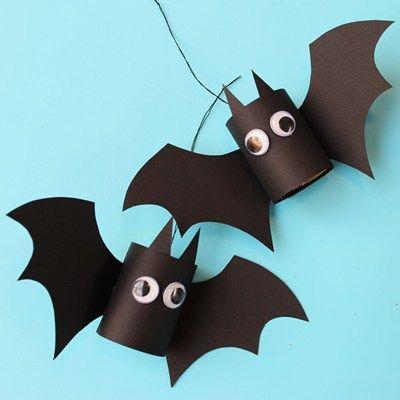 Enkelt pyssel till halloween - fladdermöss